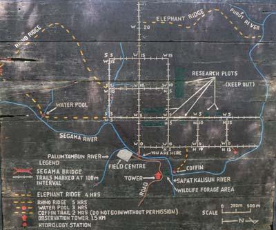 Danum Valley Field Centre Umgebungskarte