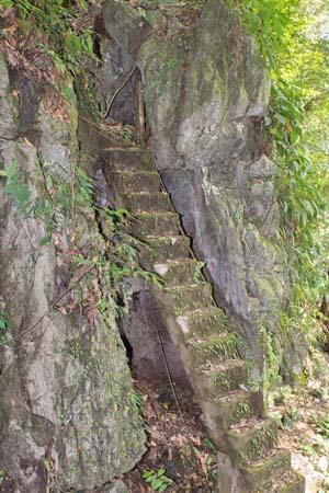 Steile Treppe zur Fairy Cave