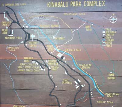 Karte des Kinabalu Nationalparks