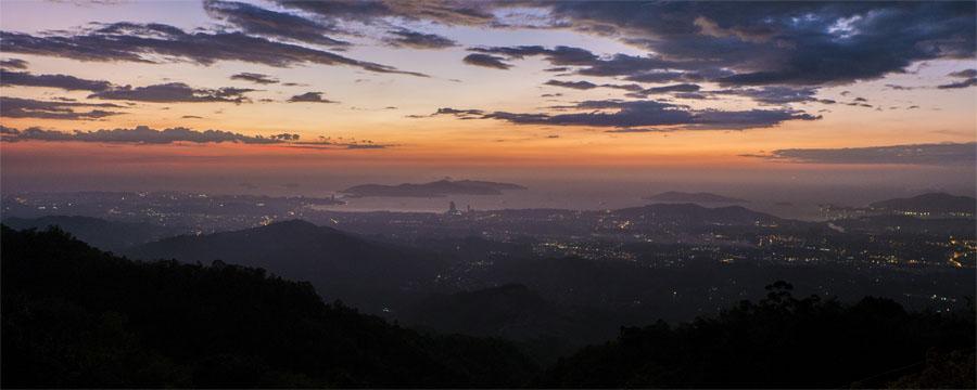 Kota Kinabalu - Sonnenuntergang an Kokol Hill