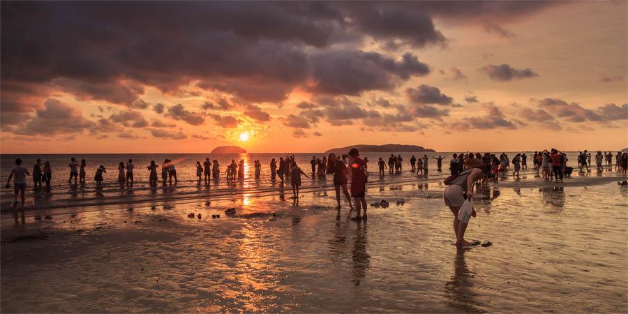 KK - Tanjung Aru Beach Sonnenuntergang