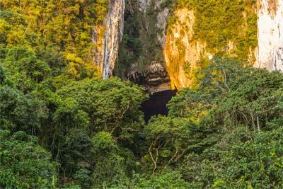 Mulu Nationalpark - Eingang zur Deer Cave