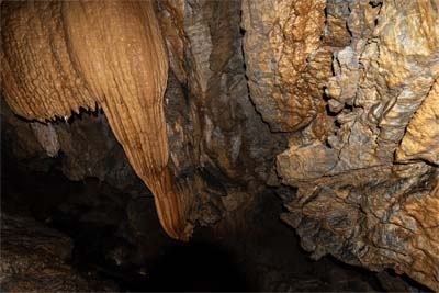 Stalaktit in der Wind Cave nahe Kuching