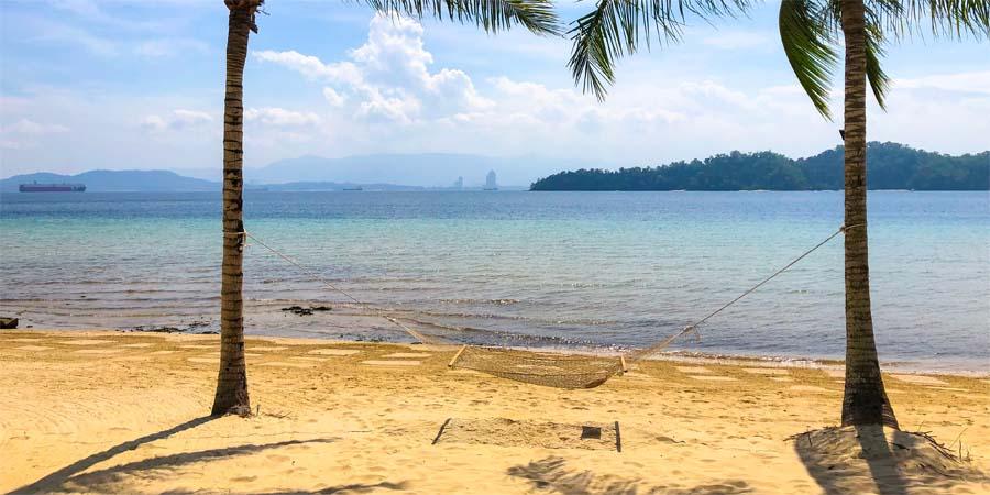 Strand von Gaya Island