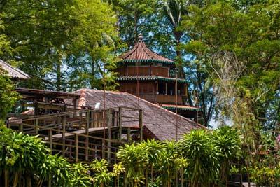 Langhaus im Sarawak Cultural Village