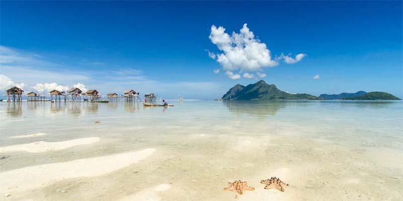 Borneo - Strand von Mabul Island