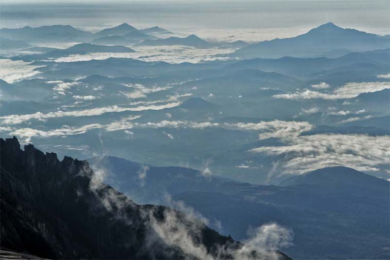 Blick auf den Kinabalu Nationalpark