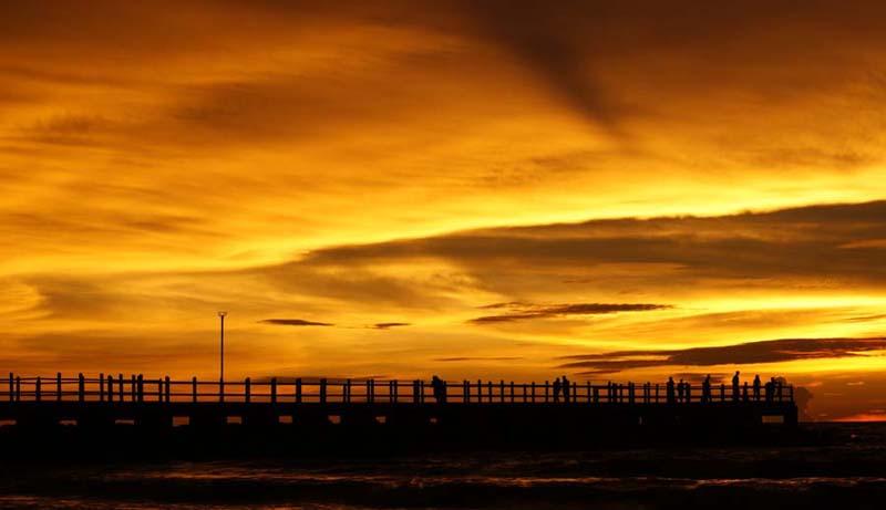Sonnenuntergang am Brighton Beach