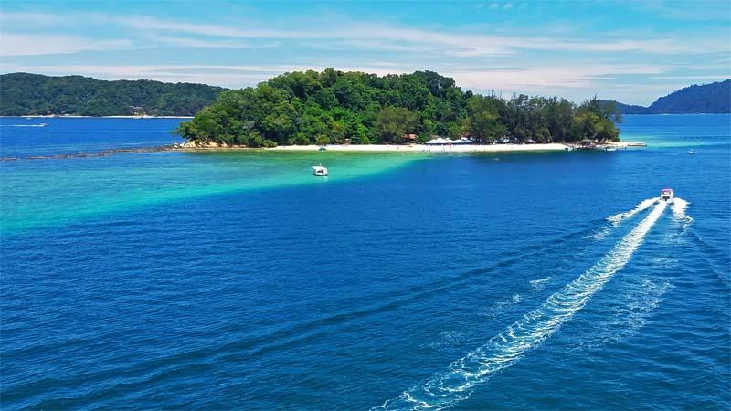 Insel im Tunku Abdul Rahman Marine Park
